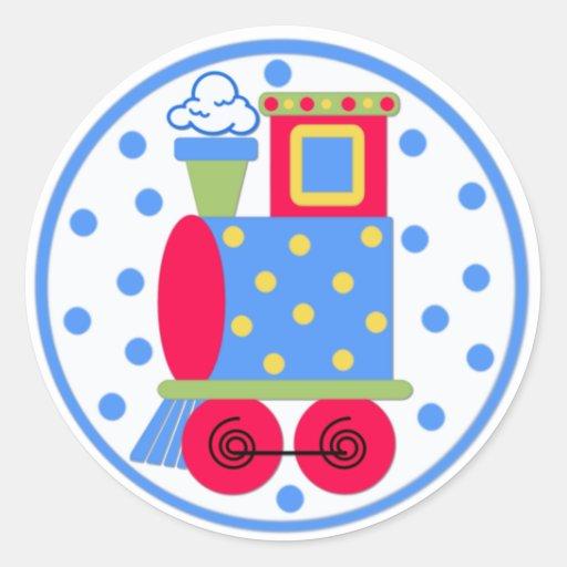 Pegatina colorido del bebé del tren