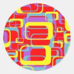 Pegatina colorido del diseño del extracto de los r