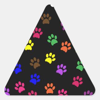 Pegatina colorido del perro casero de la impresión