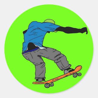 Pegatina colorido del skater
