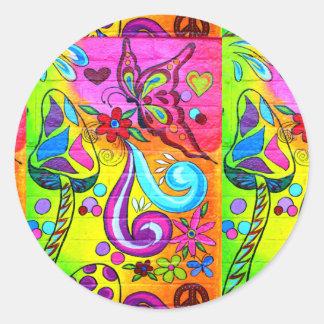 pegatina colorido psicodélico de los años 70