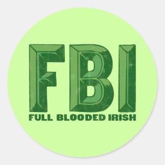 Pegatina completo del irlandés de Blooded
