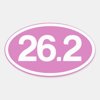Pegatina completo del maratón del rosa 26,2
