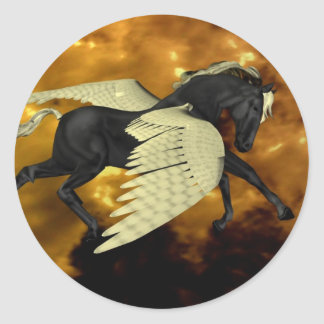 Pegatina con alas de oro de Pegaso