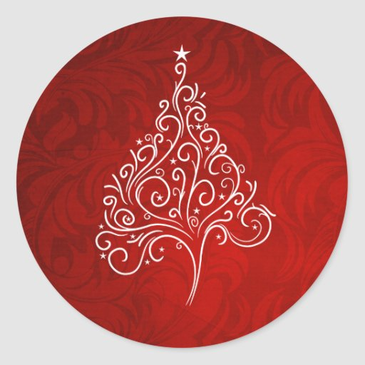 Pegatina con clase del sobre del navidad