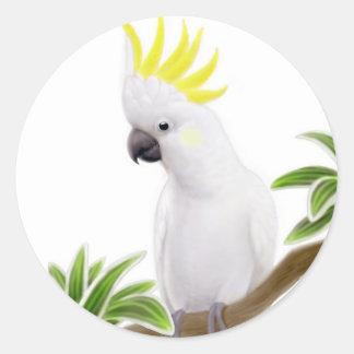 Pegatina con cresta del Cockatoo del azufre