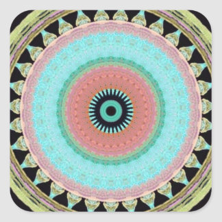 Pegatina con dibujo geométrico de colores