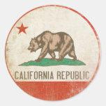 Pegatina con la bandera apenada de la república de