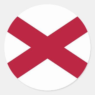 Pegatina con la bandera de Alabama