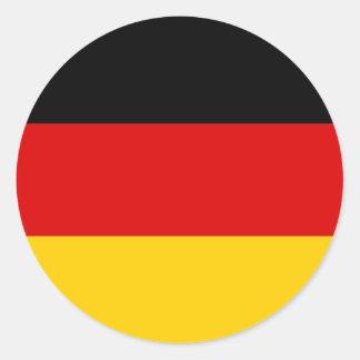 Pegatina con la bandera de Alemania