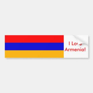 Pegatina con la bandera de Armenia Pegatina De Parachoque