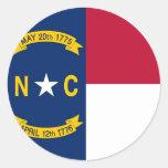 Pegatina con la bandera de Carolina del Norte
