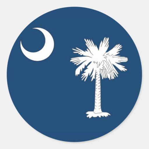 Pegatina con la bandera de Carolina del Sur