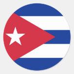 Pegatina con la bandera de Cuba