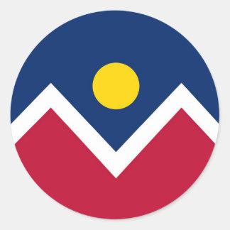 Pegatina con la bandera de Denver, Colorado