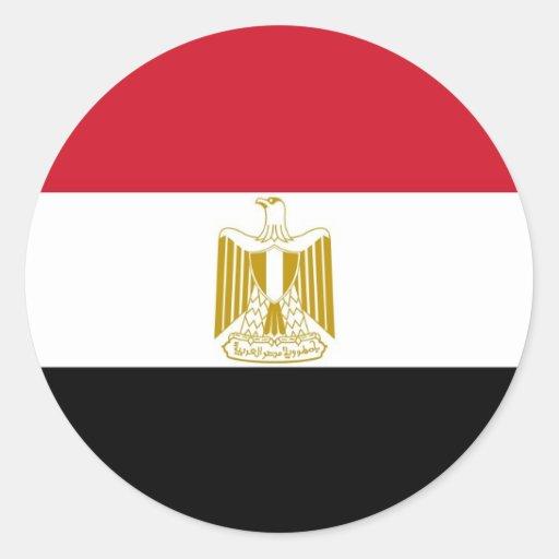 Pegatina con la bandera de Egipto