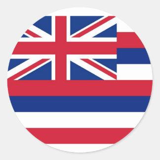 Pegatina con la bandera de Hawaii