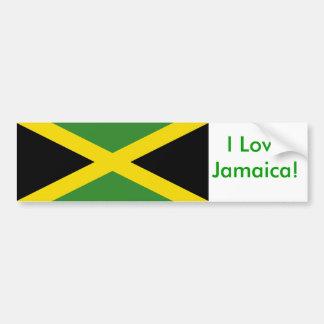 Pegatina con la bandera de Jamaica Pegatina Para Auto