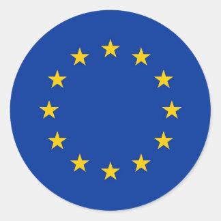 Pegatina con la bandera de la unión europea