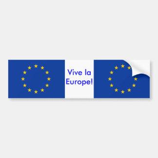Pegatina con la bandera de la unión europea etiqueta de parachoque