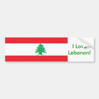 Pegatina con la bandera de Líbano Pegatina Para Auto