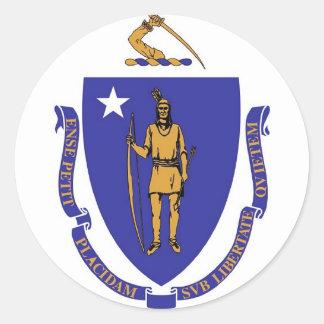 Pegatina con la bandera de Massachusetts