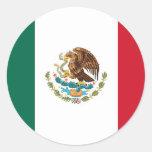 Pegatina con la bandera de México
