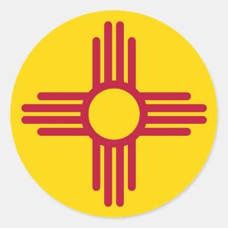 Pegatina con la bandera de New México