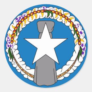 Pegatina con la bandera de Northern Mariana