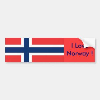 Pegatina con la bandera de Noruega Etiqueta De Parachoque