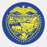Pegatina con la bandera de Oregon