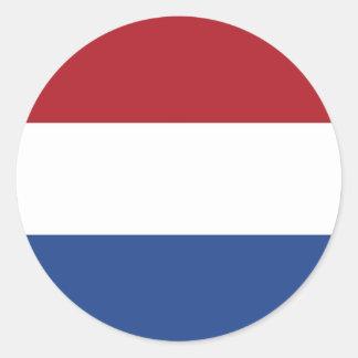 Pegatina con la bandera de Países Bajos