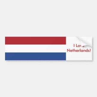 Pegatina con la bandera de Países Bajos Pegatina De Parachoque
