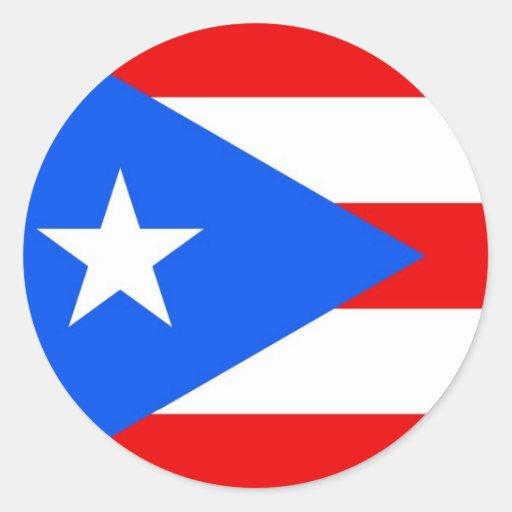 Pegatina con la bandera de Puerto Rico