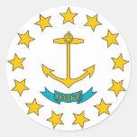 Pegatina con la bandera de Rhode Island