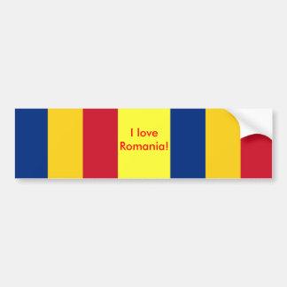 Pegatina con la bandera de Rumania Pegatina Para Auto