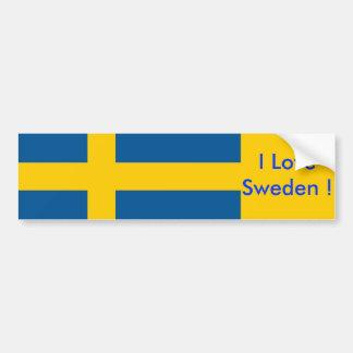 Pegatina con la bandera de Suecia Pegatina De Parachoque