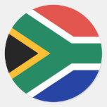 Pegatina con la bandera de Suráfrica