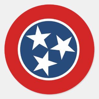 Pegatina con la bandera de Tennessee