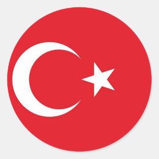Pegatina con la bandera de Turquía