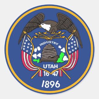Pegatina con la bandera de Utah
