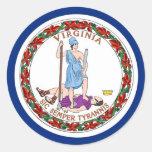 Pegatina con la bandera de Virginia