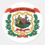Pegatina con la bandera de Virginia Occidental