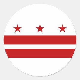 Pegatina con la bandera del Washington DC