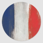 Pegatina con la bandera sucia del francés del