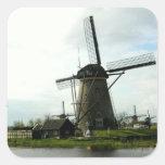 Pegatina con la imagen del molino de viento