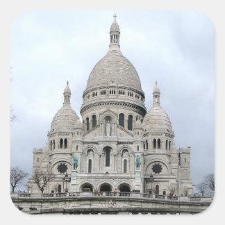 Pegatina con la vista de Sacre Coeur de París