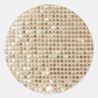 Pegatina con lentejuelas del oro