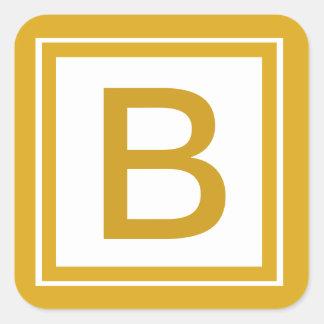 Pegatina con monograma inicial de encargo