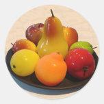 Pegatina con sabor a fruta